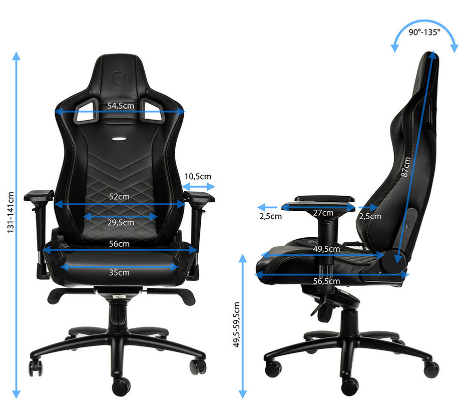 dimensions noblechairs