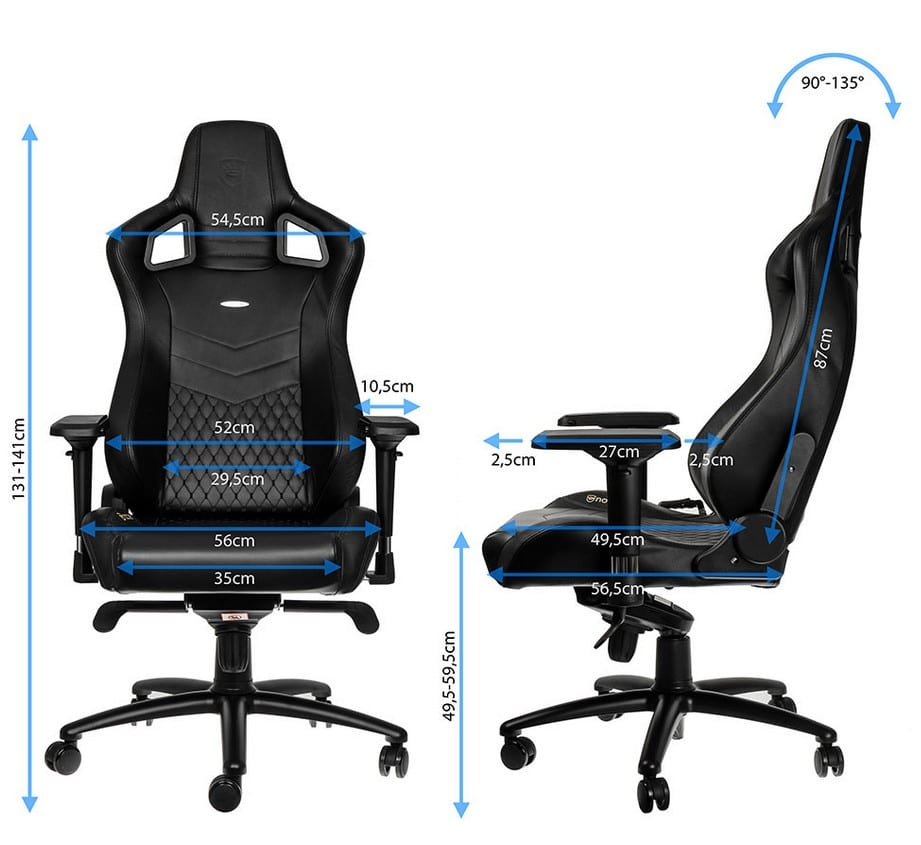 noblechairs cuir dimensions